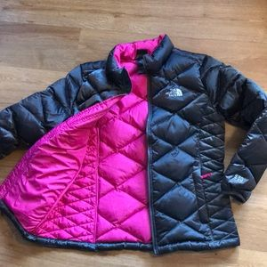 The North Face 550 down jacket girls 14-16 L